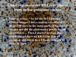 outer region cluster rrlyrae phases from stellar pulsation sources