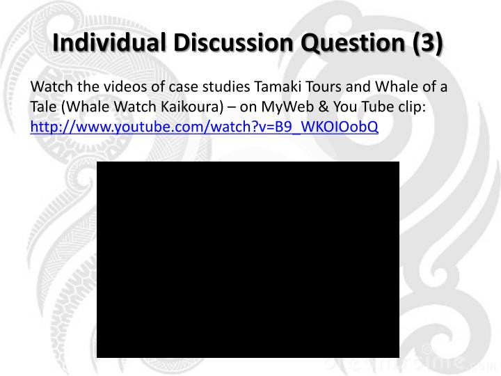Individual Discussion Question (3