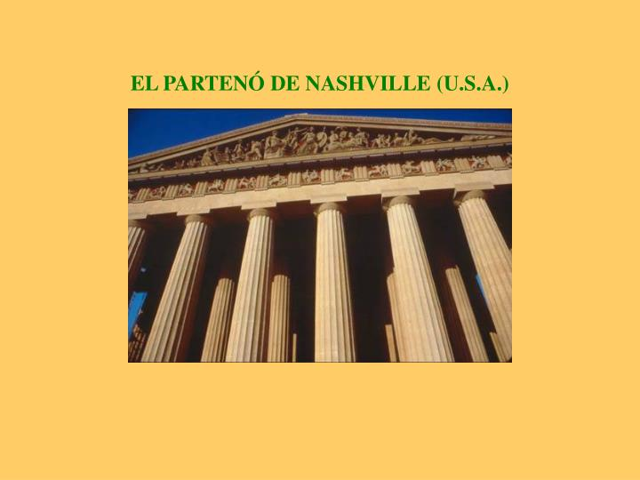 EL PARTENÓ DE NASHVILLE (U.S.A.)