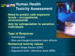 human health toxicity assessment