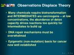 observations displace theory