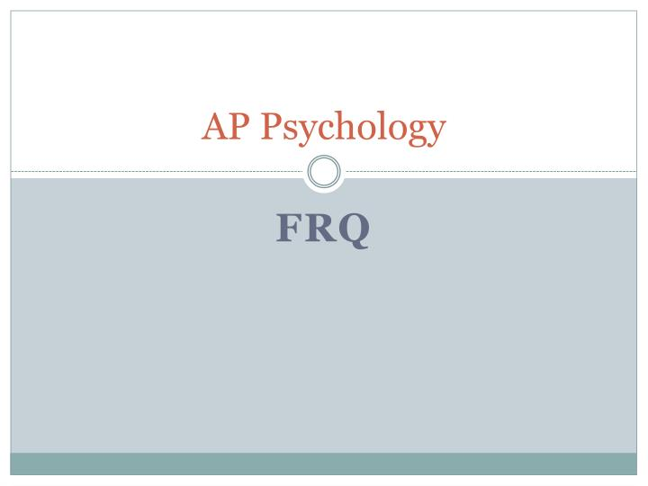 ap psych essay rubric How prepared are you for your ap psychology test/exam find out how ready you are today.