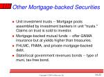 other mortgage backed securities