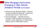 other mortgage instruments emerging in high interest inflation periods concluded