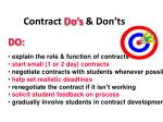 contract do s don ts