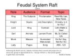 feudal system raft cont d