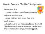 how to create a profiler assignment2