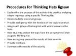 procedures for thinking hats jigsaw
