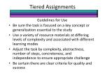 tiered assignments2