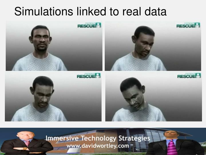 Simulations linked to real data
