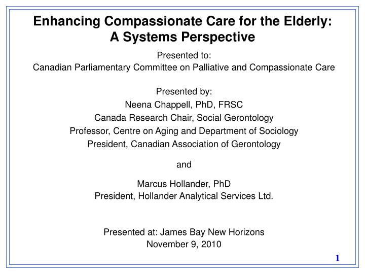 enhancing compassionate care for the elderly a systems perspective n.
