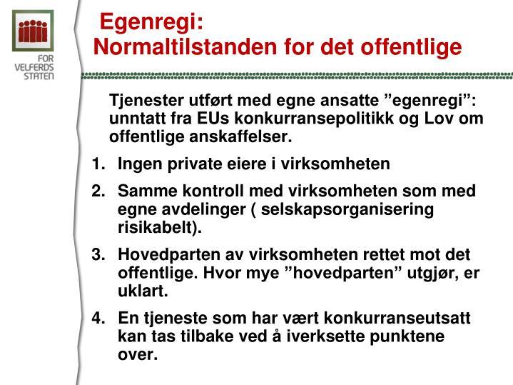 Egenregi: