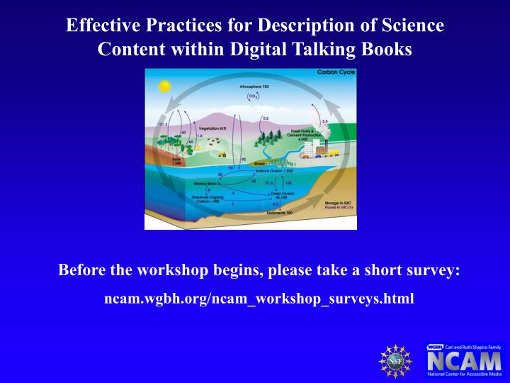 effective practices for description of science content within digital talking books n.