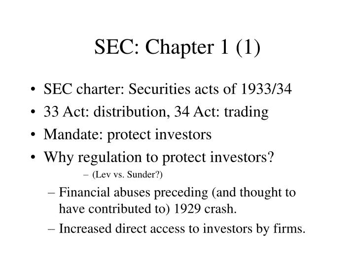 SEC: Chapter 1 (1)