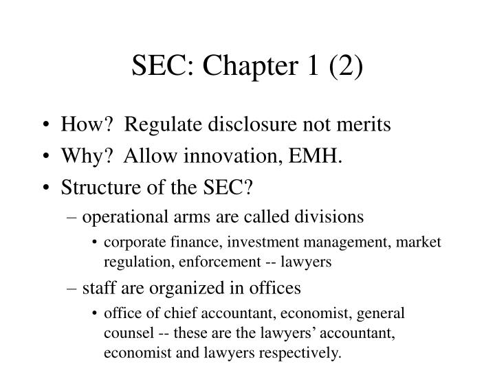 SEC: Chapter 1 (2)