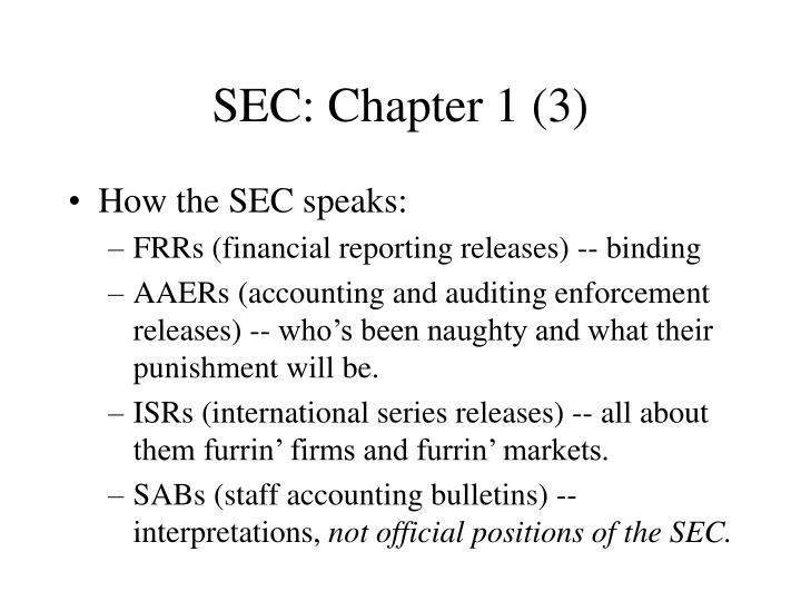 SEC: Chapter 1 (3)
