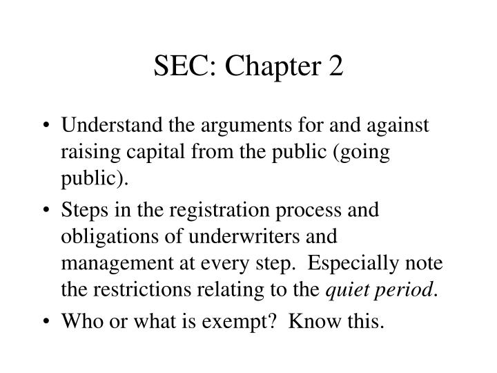 SEC: Chapter 2