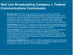 red lion broadcasting company v federal communications commission
