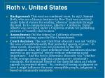 roth v united states