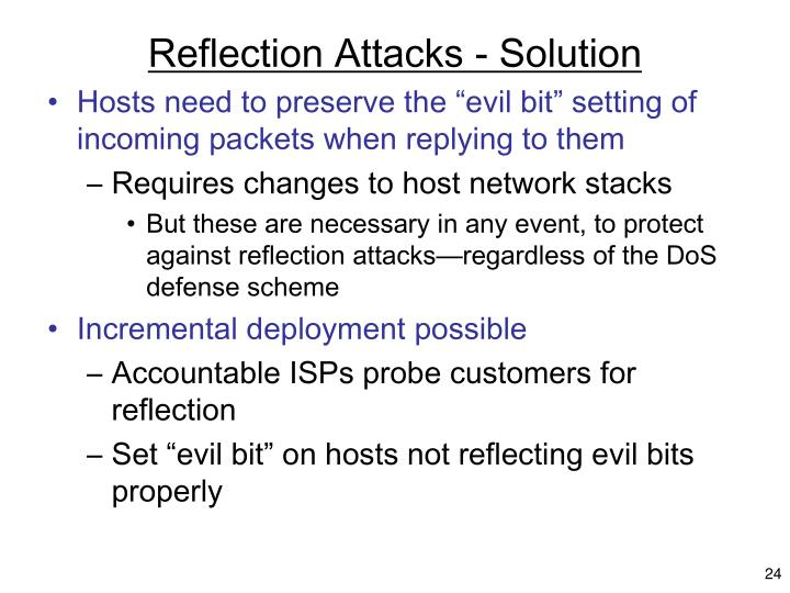 Reflection Attacks - Solution