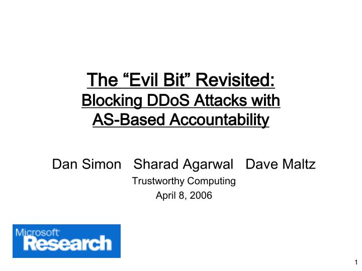 The evil bit revisited blocking ddos attacks with as based accountability