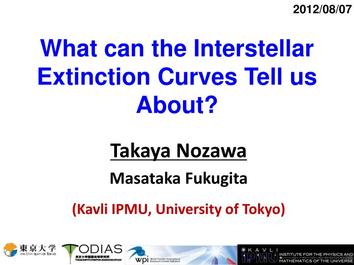 What can the interstellar extinction curves tell us about