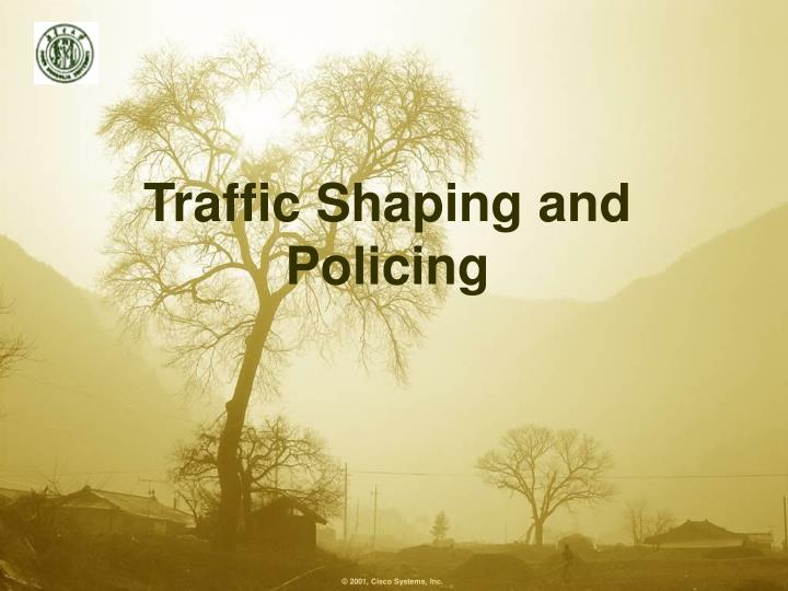 traffic shaping and policing n.