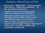 daubert v merrell dow 1993