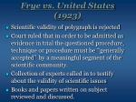 frye vs united states 1923