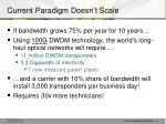 current paradigm doesn t scale