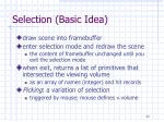selection basic idea