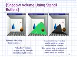 shadow volume using stencil buffers