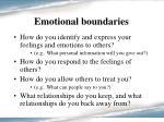 emotional boundaries