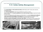 lesson 7 health safety and security in the bar 7 13 cellar safety management