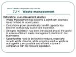 lesson 7 health safety and security in the bar 7 14 waste management