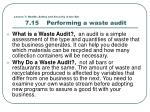 lesson 7 health safety and security in the bar 7 15 performing a waste audit