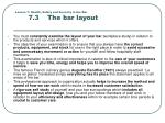 lesson 7 health safety and security in the bar 7 3 the bar layout