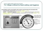 lesson 7 health safety and security in the bar 7 4 steps critical to food safety and hygiene