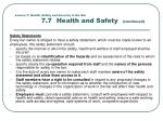 lesson 7 health safety and security in the bar 7 7 health and safety continued