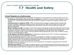 lesson 7 health safety and security in the bar 7 7 health and safety