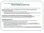 lesson 7 health safety and security in the bar food safety and ice