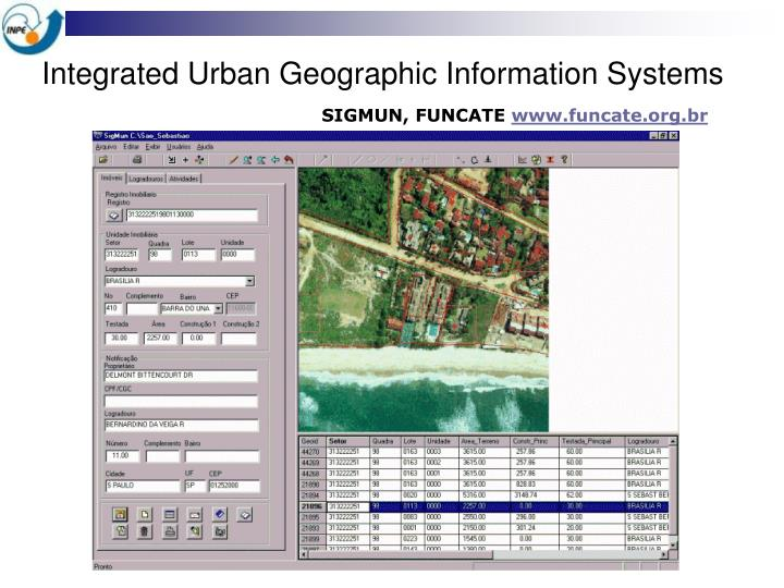 Integrated Urban Geographic Information Systems