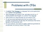 problems with cfgs