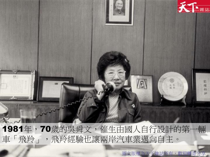1981年,70