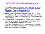 2005 2008 second three year cycle