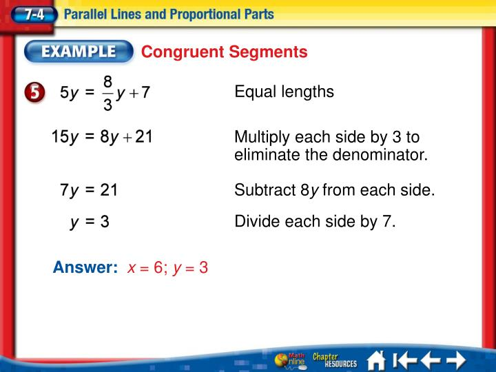 Ppt Parallel Lines And Proportional Parts Powerpoint Presentation