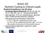 action d2 nutrient cycling critical loads2