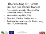 berarbeitung icp forests soil and soil solution manual