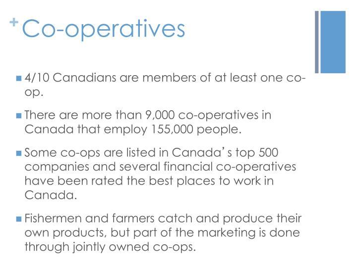 Co-operatives