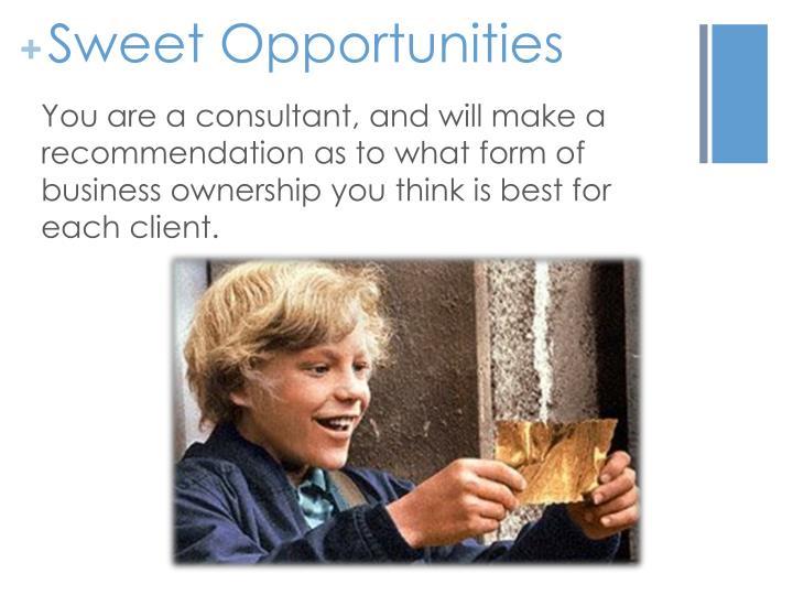 Sweet Opportunities
